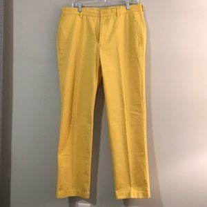 Yellow casual pants